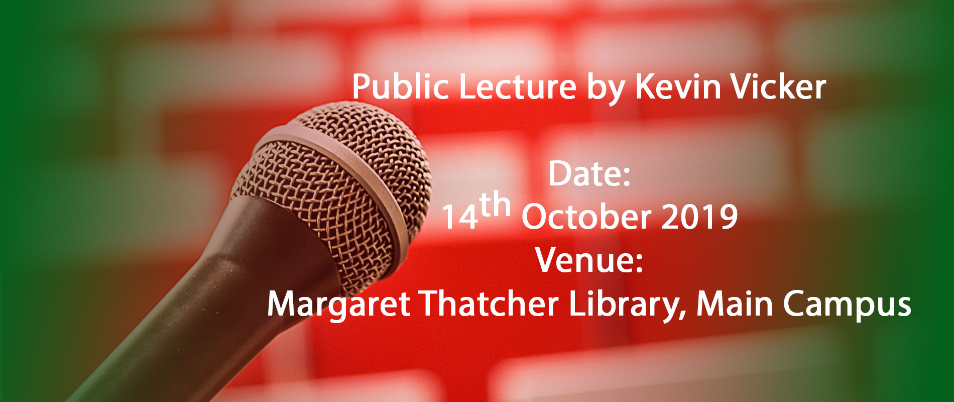 public lecture by kevin vicker at moi university