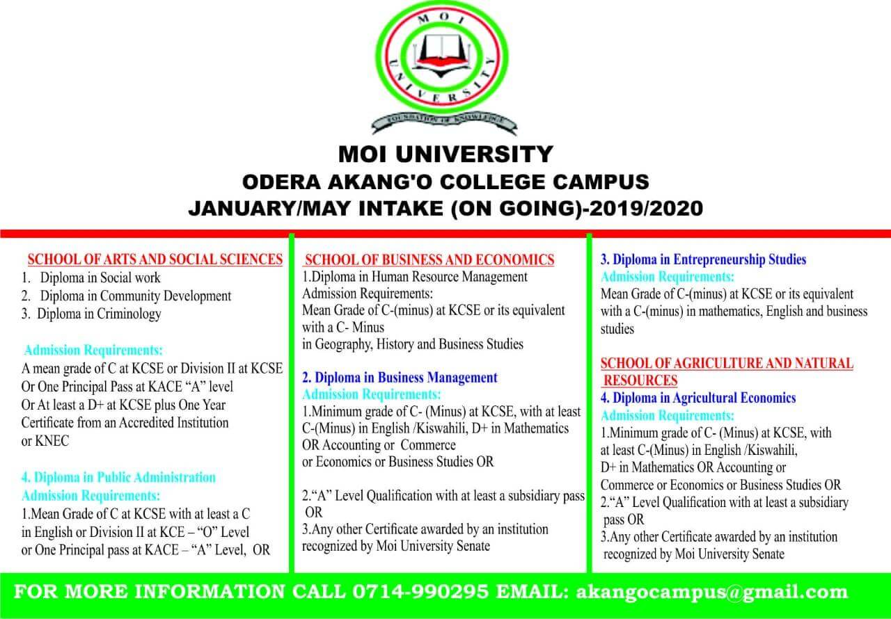 January/May 2019/2020 Intake On-going : Odera Akang'o