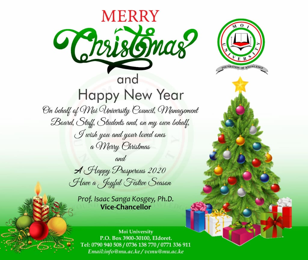 Christmas and New Year Wishes from the Vice-Chancellor