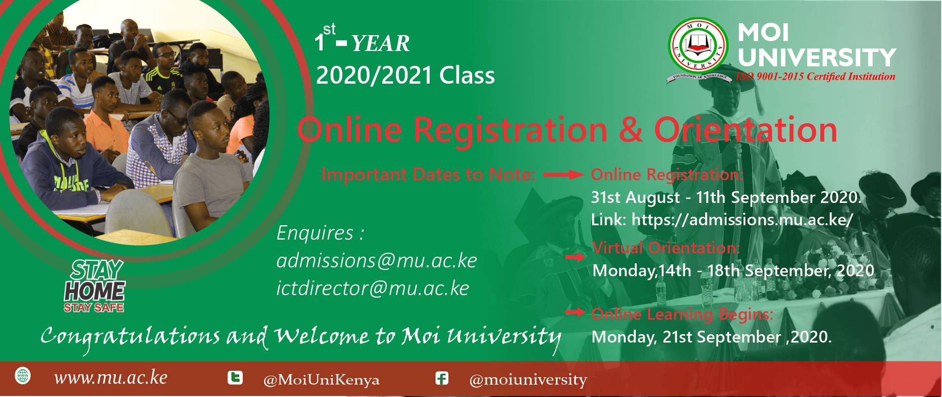 First Year Virtual Orientation Programme
