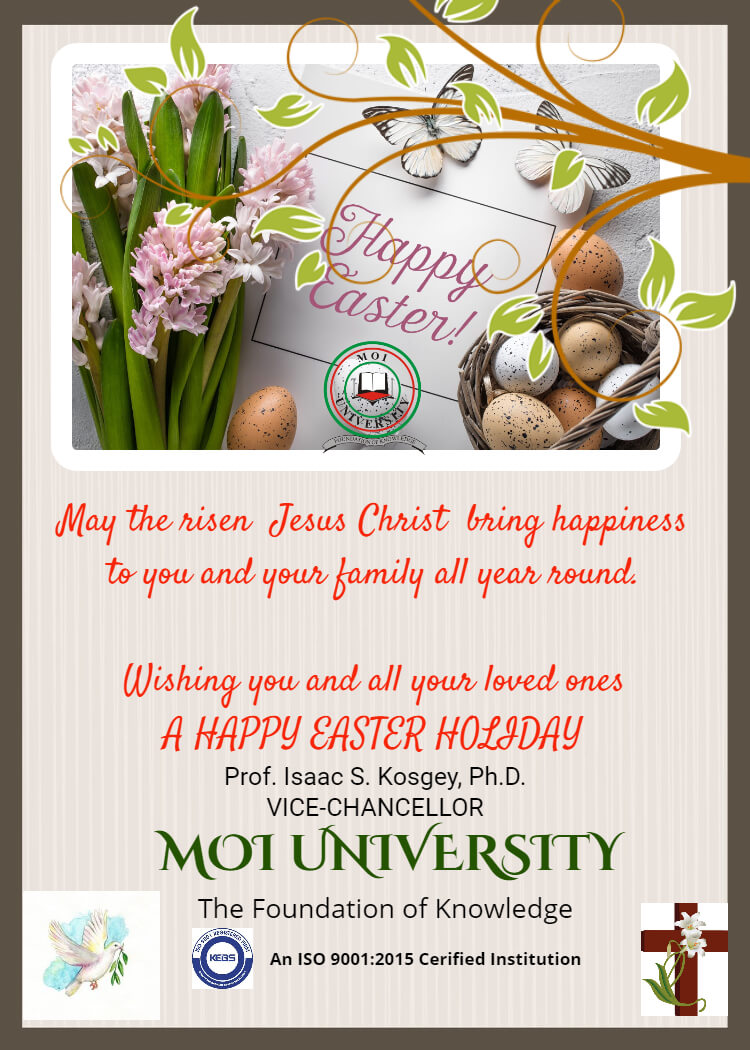 Vice Chancellor Easter message