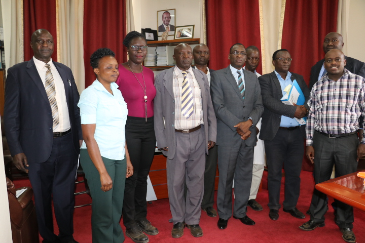 Follow-up Visit on the Environment Audit at the University by NEMA and Uasin Gishu County Officials