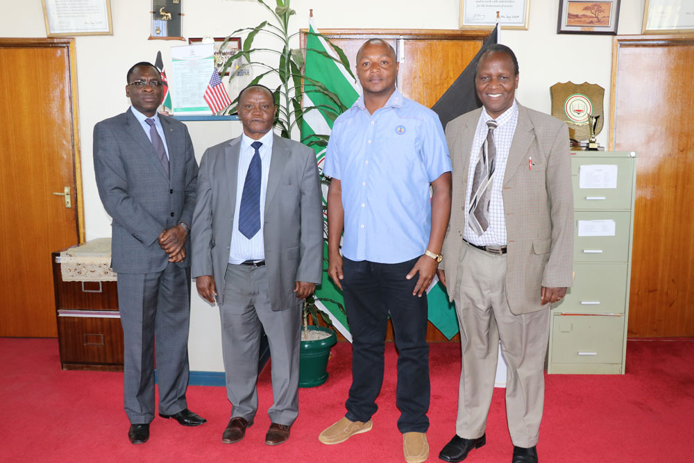 Hon.  Josiah Thiriku, Embu County Speaker, pays a Courtesy Call to the Office of the Vice-Chancellor