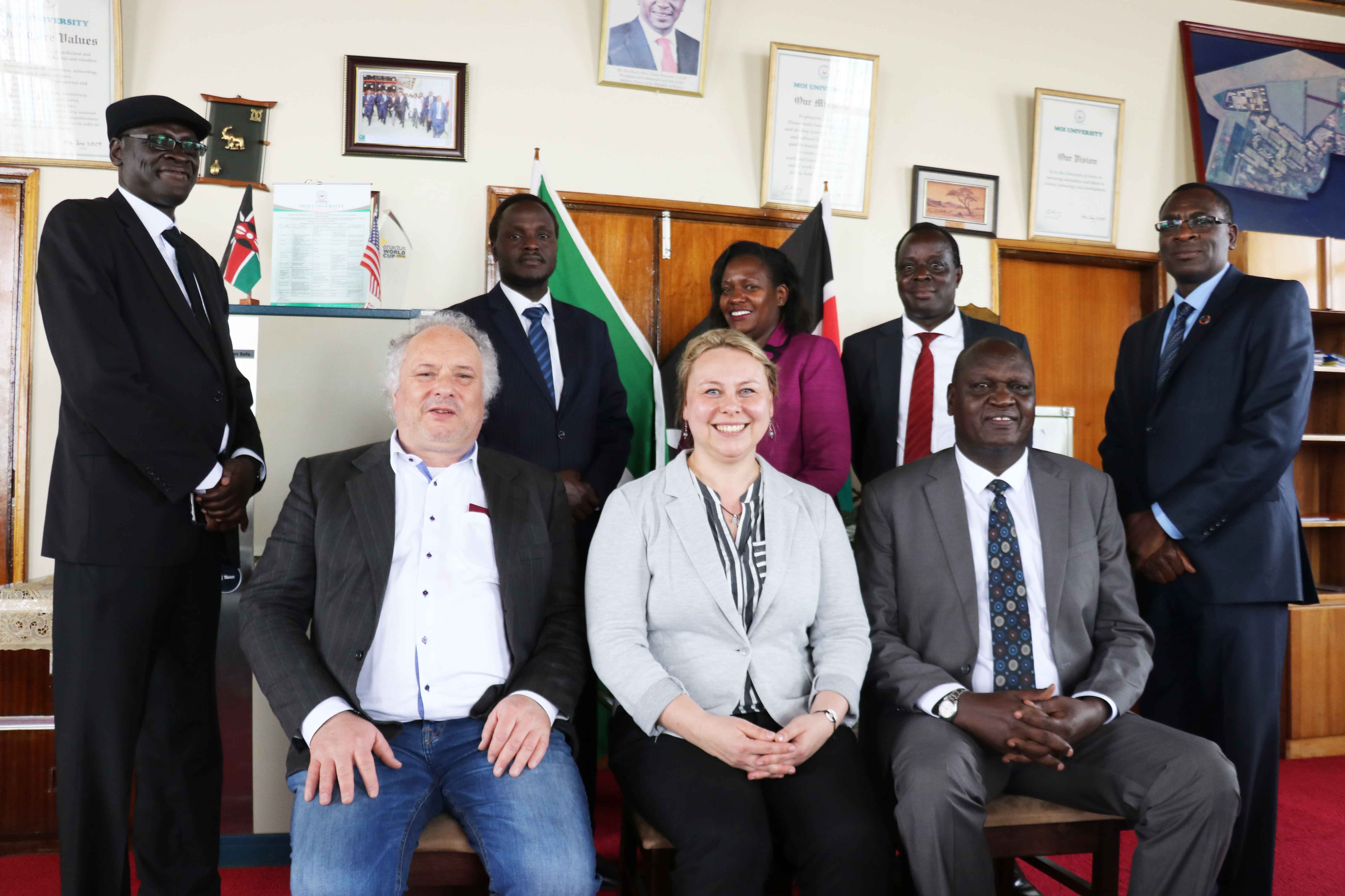 Dr. Franz Kogelmann, the Managing Director, Africa Multiple Cluster of Excellence, University of Bayreuth (Germany) pays a courtesy call to the Office of the Vice-Chancellor