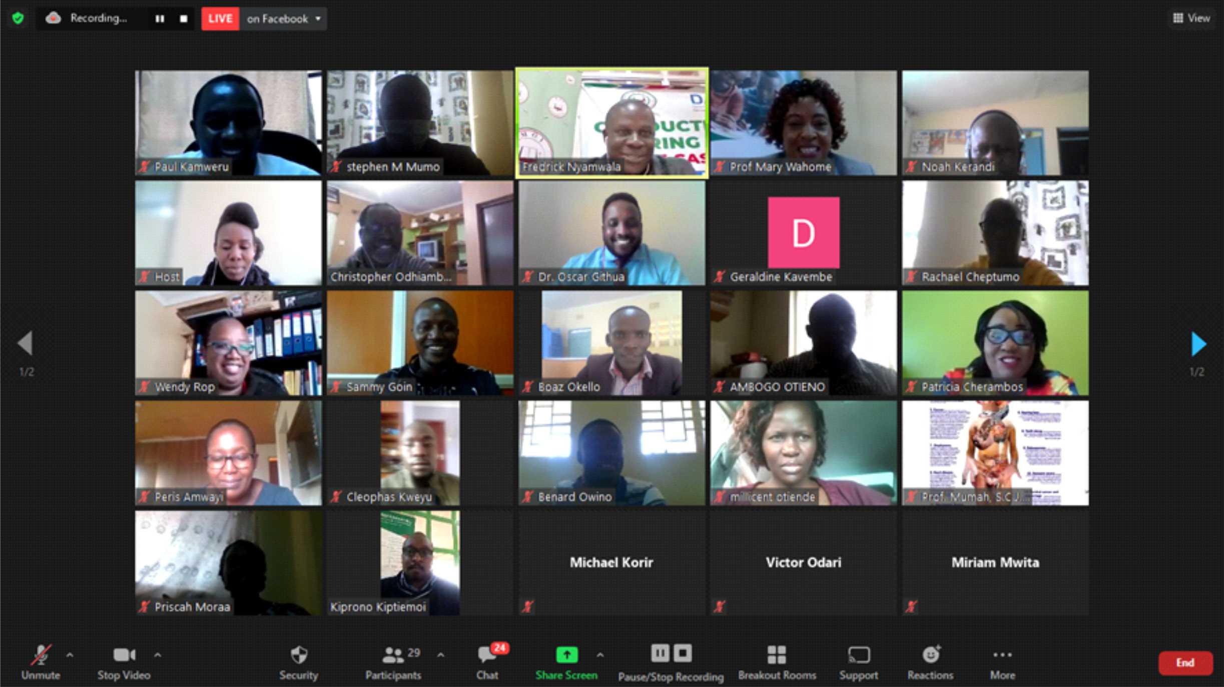 Moi University hosts Virtual Training Workshop on Conducting Research during a Pandemic: The Case of Covid-19