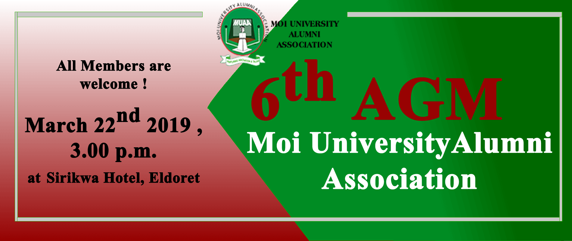 6th Moi University Alumni Association Annual General Meeting
