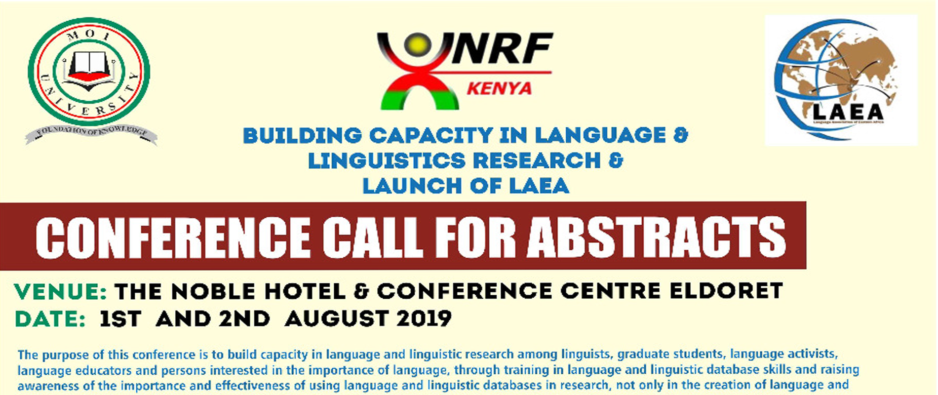 call for abstract poster